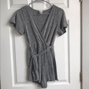 Caution to the wind short sleeve romper